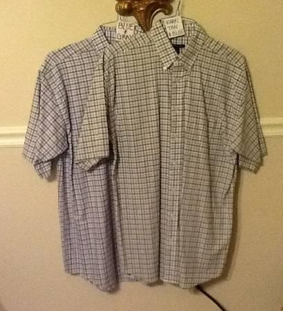 2 Van Heusen Studio Shirts Button Down Mens Lg Tall 16 1