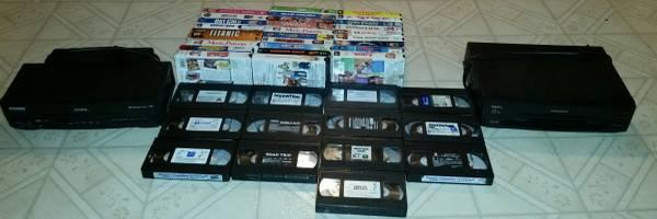 2 VCR and 40 vhs movies $40 for all - $40