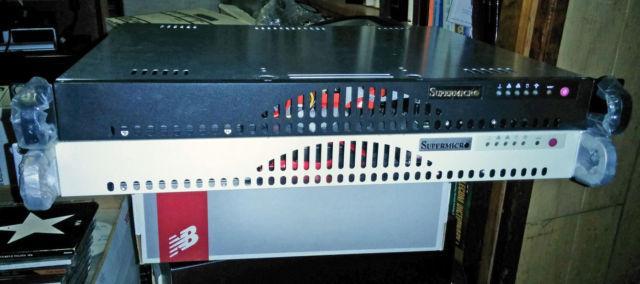 2 Web Computer Servers, SSD Drives, RAM, Supermicro 1U Cases, boxed