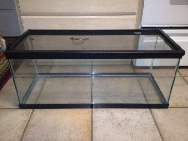 20 gallon reptile fish tank w screen top grand blanc for Aquariums for sale near me
