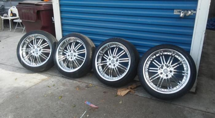 20 in rims and tires
