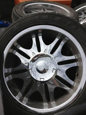 20 Inch 5 Lug Chrome Wheels Rims And Tires Ford F150 Dodge
