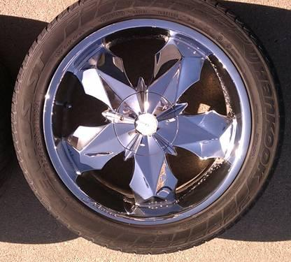 "20"" Mossa Mosaic rims with Hankook 275/45/R20 tires for ..."