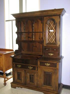 20 off sale pennsylvania house dark pine china hutch for Furniture indiana pa