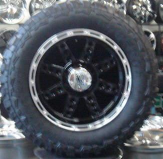 20 X 10 XD766 DIESEL BLACK WITH MACHINED LIP,TIRES MUD