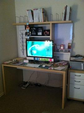 Obo ikea desk hutch desk chair and 3 drawer organizer - Ikea desk drawer organizer ...
