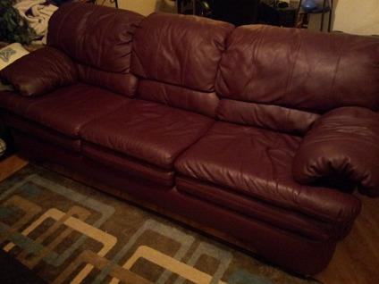 $200 OBO Maroon Leather Couch