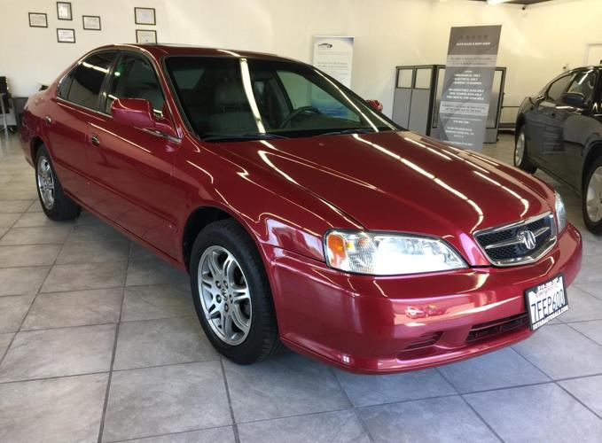 2000 acura 3 2 tl 4dr red auto loaded very clean family size