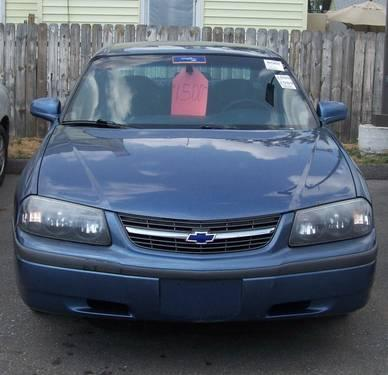 2000 chevrolet impala blue automatic 4 door 3400 motor for sale in bay city michigan. Black Bedroom Furniture Sets. Home Design Ideas