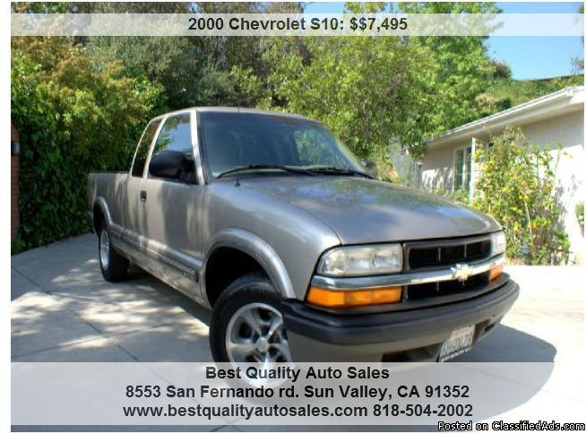 2000 chevrolet s10 ls ext cab 2wd for sale in shadow hills california classified. Black Bedroom Furniture Sets. Home Design Ideas