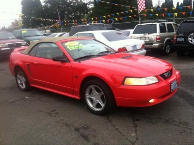2000 ford mustang convertible gt for sale in salem oregon classified. Black Bedroom Furniture Sets. Home Design Ideas