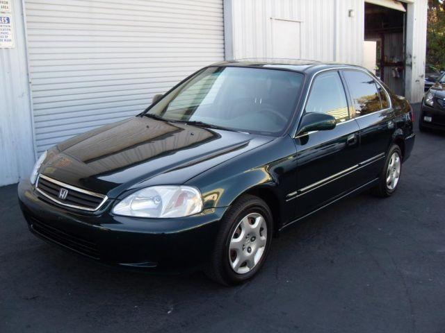 2000 honda civic green 4dr gas saver automatic reliable for Gold honda civic