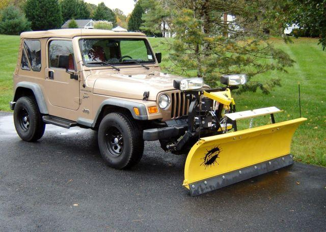 Jeeps For Sale In Md >> 2000 Jeep Wrangler 4x4 w/ Fisher 7' Plow for Sale in ...