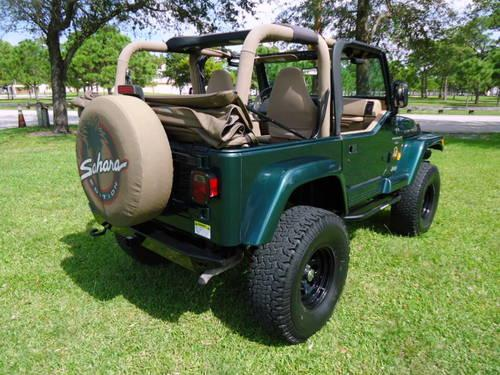 2000 jeep wrangler sahara 4 0l 4x4 automatic lifted soft top convert for sale in fort. Black Bedroom Furniture Sets. Home Design Ideas