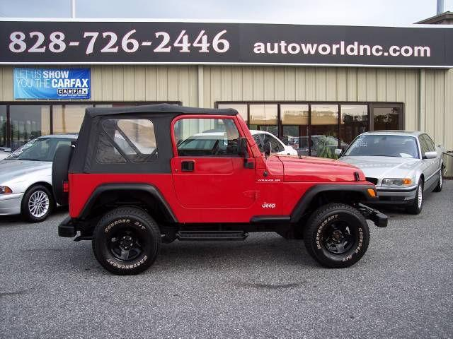 2000 jeep wrangler se for sale in lenoir north carolina. Black Bedroom Furniture Sets. Home Design Ideas