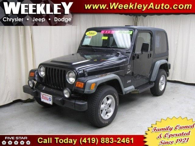 2000 jeep wrangler sport for sale in butler ohio classified. Black Bedroom Furniture Sets. Home Design Ideas