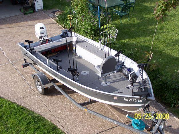 2000 Lund Rebel With 2001 25hp Johnson Tiller For Sale In