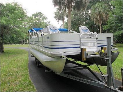 2000 Sylvan 22 Smokercraft Pontoon Boat With Trailer For