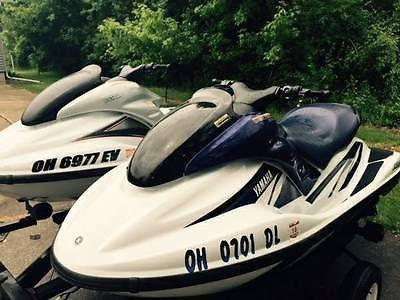 2001&2002 *VERY LOW HOURS* Two (2) Yamaha WaveRunner Jet Ski's w/ Trailer &  Cove