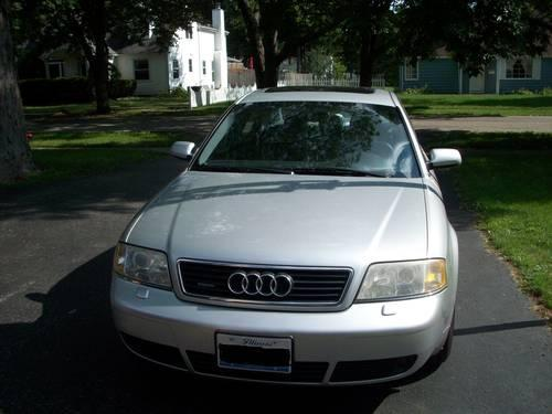 2001 audi a6 2 7t silver ext black leather int auto 153 000 mi for sale in crystal lake. Black Bedroom Furniture Sets. Home Design Ideas