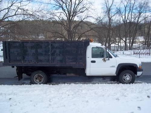 2001 chevy silverado diesel 3500 dump truck for sale for sale in woodsboro maryland. Black Bedroom Furniture Sets. Home Design Ideas