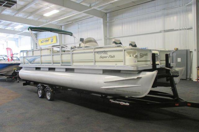 2001 Crest 25 Superfish Pontoon With A Trailer Included!