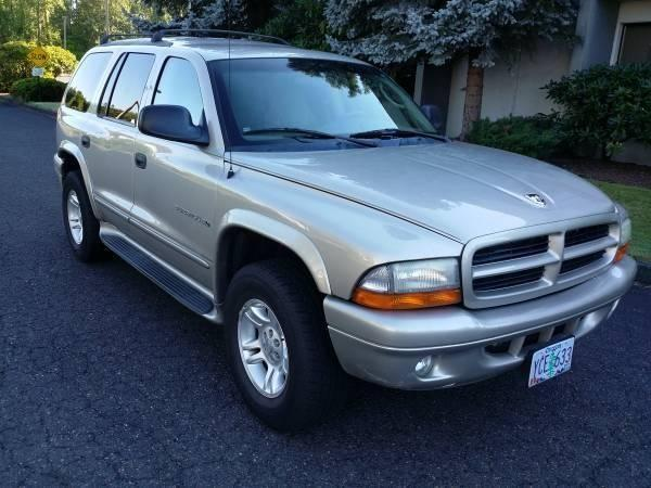 2001 dodge durango 4x4 leather 7 passengers tow pkg for sale in portland oregon classified. Black Bedroom Furniture Sets. Home Design Ideas