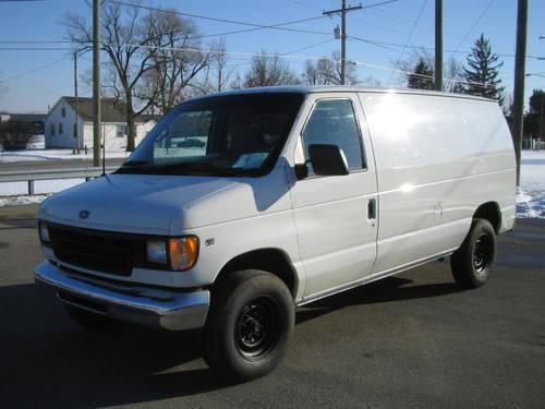 2001 ford econoline e250 cargo van commerical work vehicle for sale in fort wayne. Black Bedroom Furniture Sets. Home Design Ideas