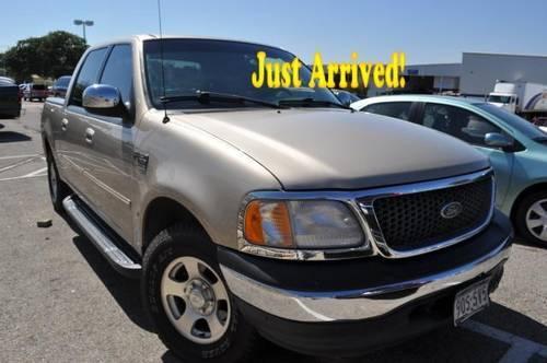 2001 ford f 150 supercrew pickup truck crew cab 139 xlt beige for sale in austin texas. Black Bedroom Furniture Sets. Home Design Ideas
