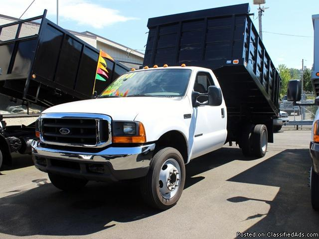 2001 FORD F450 SUPERDUTY 12 ft. Flatbed Dump Truck for ...