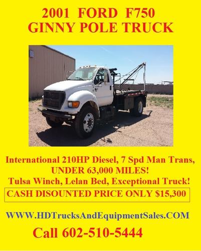 2001 Ford F750 Flatbed With Winch