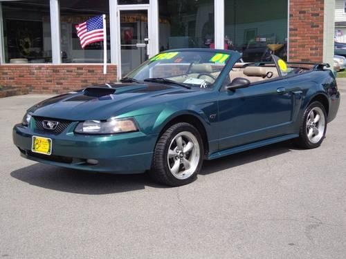 2001 ford mustang gt convertible automatic for sale in rochester new hampshire classified. Black Bedroom Furniture Sets. Home Design Ideas
