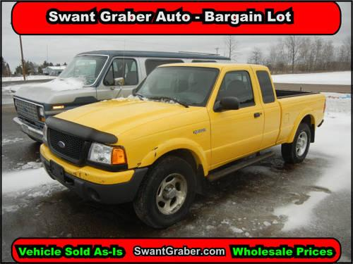 2001 ford ranger truck 4 dr edge 4wd extended cab sb for for Swant graber motors barron wi