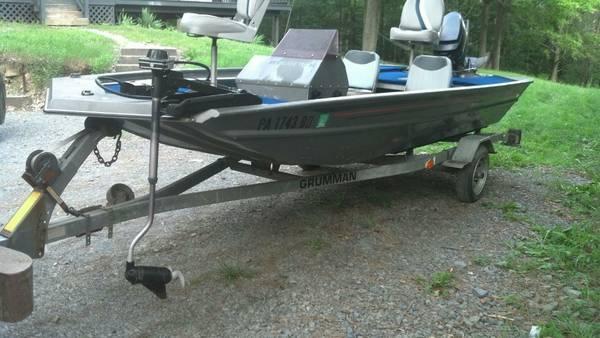 Grumman Renegade Fishing Aluminum Bass Boat W Mercury Hp And Trai Americanlisted