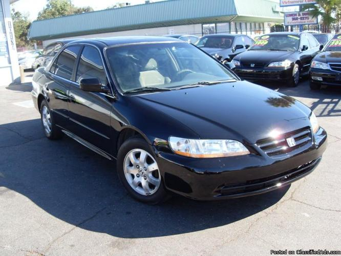 2001 honda accord ex 4dr black all power automatic gas saver for sale in gold river california. Black Bedroom Furniture Sets. Home Design Ideas