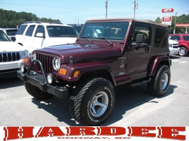 2001 jeep wrangler sahara for sale in conway south carolina classified. Black Bedroom Furniture Sets. Home Design Ideas
