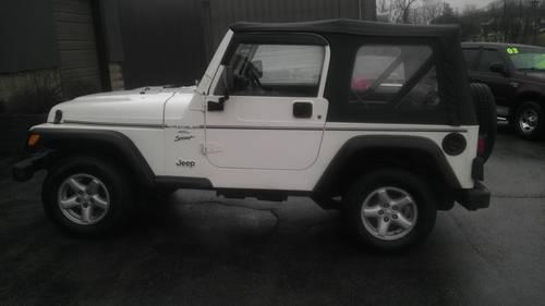 2001 jeep wrangler sport 4x4 105 819 miles automatic. Black Bedroom Furniture Sets. Home Design Ideas
