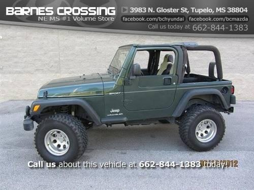 2001 jeep wrangler sport for sale in lafayette mississippi classified. Black Bedroom Furniture Sets. Home Design Ideas
