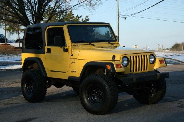 Tj Auto Sales >> 2001 Jeep WRANGLER Sport - TJ - 33's / lift/ YELLOW / 5sp ...