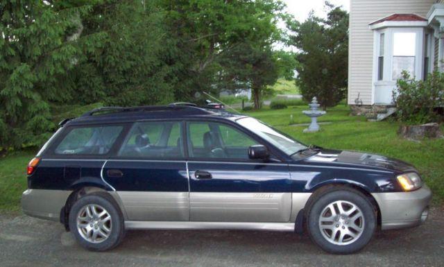 2001 Subaru Outback Awd Wagon Dark Blue For Sale In Rome