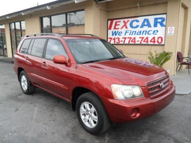 2001 toyota highlander for sale in houston texas classified. Black Bedroom Furniture Sets. Home Design Ideas