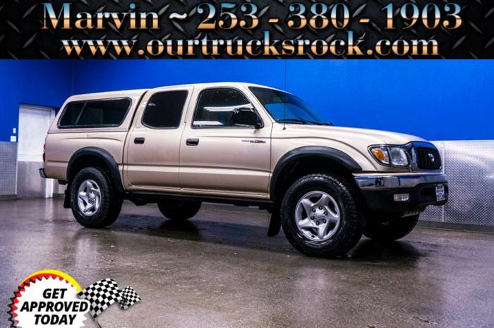 2001 toyota tacoma double cab v6 auto 4x4 carfax 1 owner. Black Bedroom Furniture Sets. Home Design Ideas