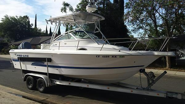 2002 25' Pro line Walk Around Fishing Boat