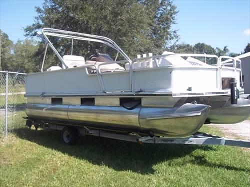 2002 Bass Buggy Pontoon Boat 18 Clear Title Amp Ready To