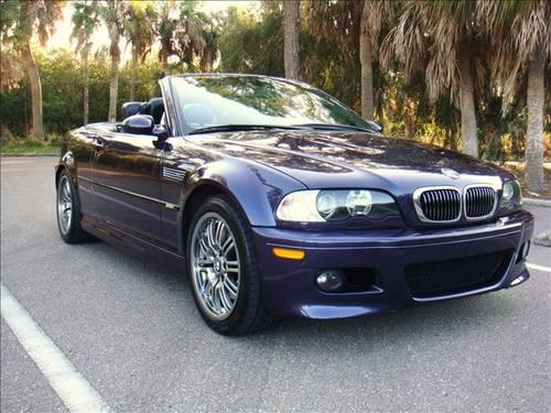 2002 bmw 3 series m3 m3ci convertible purple 6 speed for sale in safety harbor. Black Bedroom Furniture Sets. Home Design Ideas