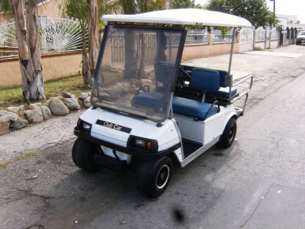 2002 Club Car Golf Cart with foldable rear seat,