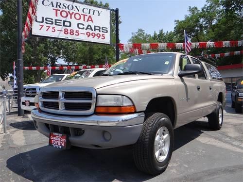 2002 dodge dakota pickup truck quad cab 131 wb 4wd slt for sale in carson city nevada. Black Bedroom Furniture Sets. Home Design Ideas
