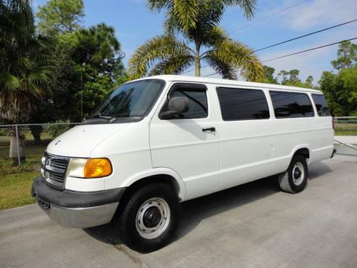 2002 dodge ram 3500 maxi van 15 passenger van 1 owner for sale in lake placid florida. Black Bedroom Furniture Sets. Home Design Ideas