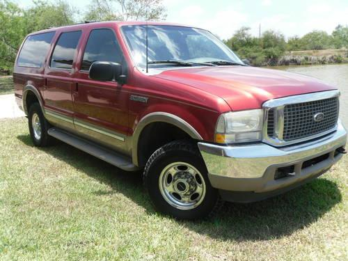 2002 ford excursion diesel 4x4 limited heavy duty powerstroke 7 3 for sale in brownsville texas. Black Bedroom Furniture Sets. Home Design Ideas