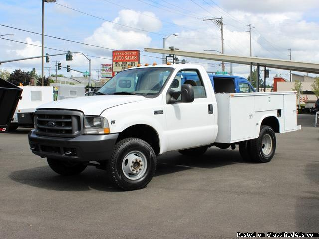 Ford Escape Lease >> #2002WT: 2002 Ford F350 4x4 Service Utility Truck for Sale in Kent, Washington Classified ...